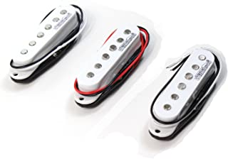 Set of Wilkinson HOT Single Coil Pickups for Strat Guitar White MWVS