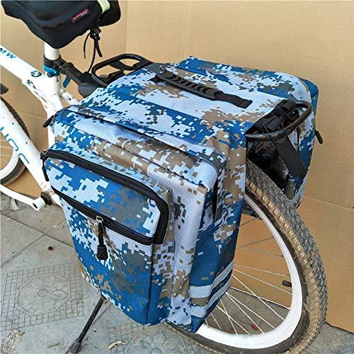 FDSEQ Camouflage Fietstaartzak voor achterzijde, bergfietstas, achterzijde, 30 x 30 x 20 cm