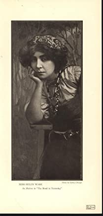 """Miss Helen Ware Actress as Malena """"Road to Yesterday"""" 1907 antique photo print"""