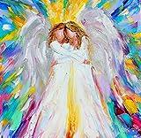 Angel Hugs print - Angel Friends - Karen Tarlton, 8x8, 12x12, 20x20, 30x30 inches