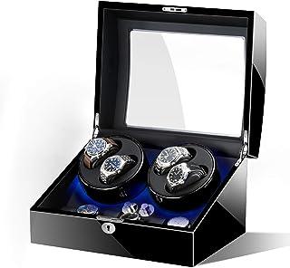 SZLJF - Caja de bobinado de Reloj de Pulsera Auatic Caja de bobinado de Reloj Giratorio Auatic con Motor Extremadamente silencioso Caja de 4 + 6 almacenamientos para Hombres y Mujeres Cajas de Reloj mecánico