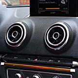 WOQUi Aluminium Alloy Instrument Panel Air Outlet Decoration Ring Cover Sticker