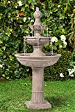 "Lamps Plus Stafford Italian Outdoor Floor Water Fountain 48"" High Three Tiered for Yard Garden Patio Deck Home - John Timberland"