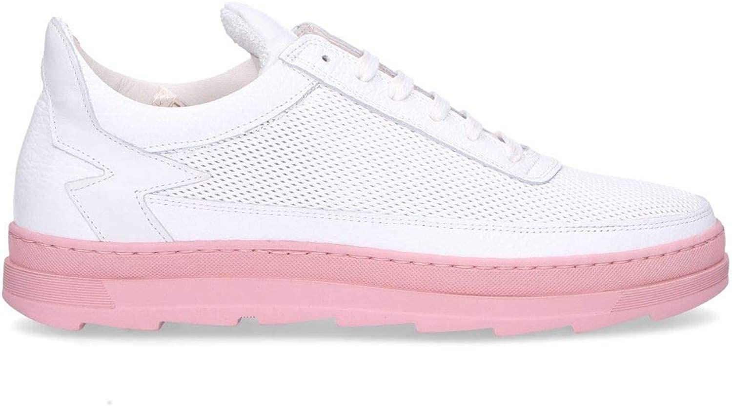 MOHAI Women's MIKI28APINK Pink Leather Sneakers