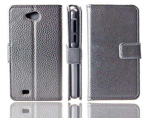 caseroxx Bookstyle-Hülle & Bildschirmschutzfolie für Medion Life E4005, Set (Bookstyle-Hülle in schwarz)