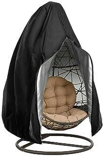 Funda para silla de jardín de mimbre para exteriores, impermeable, antipolvo, 190 x 115 cm (con cremallera)