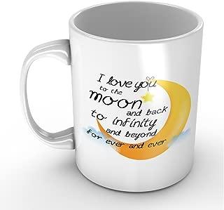 I Love You to the Moon and Back Valentines Day Mug Gift for Wife Girlfriend Boyfriend Husband 11oz Coffee Mugs