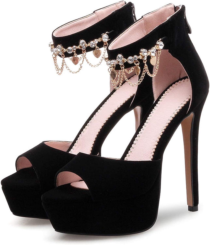 Women Super High Thin Heels Open Toe Stilettos Ladies Platform Sexy Wedding Party Sandals