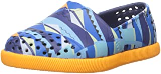 Native Verona Print Child Slip On Sneaker (Toddler/Little Kid), Regatta Blue/Begonia Orange/Biggie Print, 6 M US Toddler