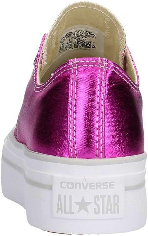 Converse Platform Scarpe Donna Basse Fuxia : Amazon.it: Moda