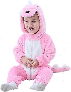 MOMBEBE COSLAND Baby Flanell Strampler Tier Jumpsuit Mit Kapuze