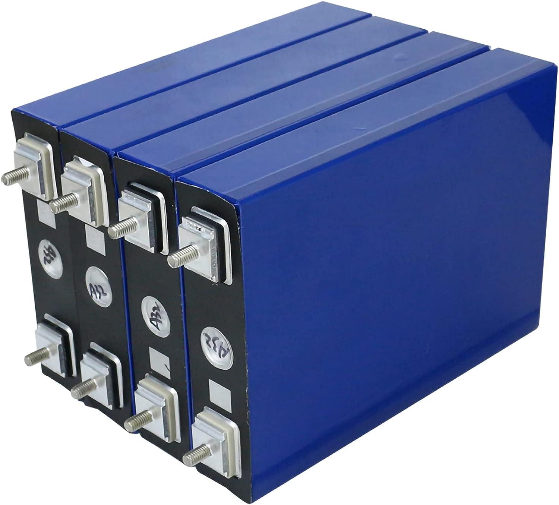 VARADOMO 3.2V 100AH 4/8 / 16PCS Cells LIFEPO4 100AH Grado de batería A DIY 12V 24 V Paquete de baterías Recargables UE Gratis de impuestos de EE. UU. con Barras de autobuses,4pcs