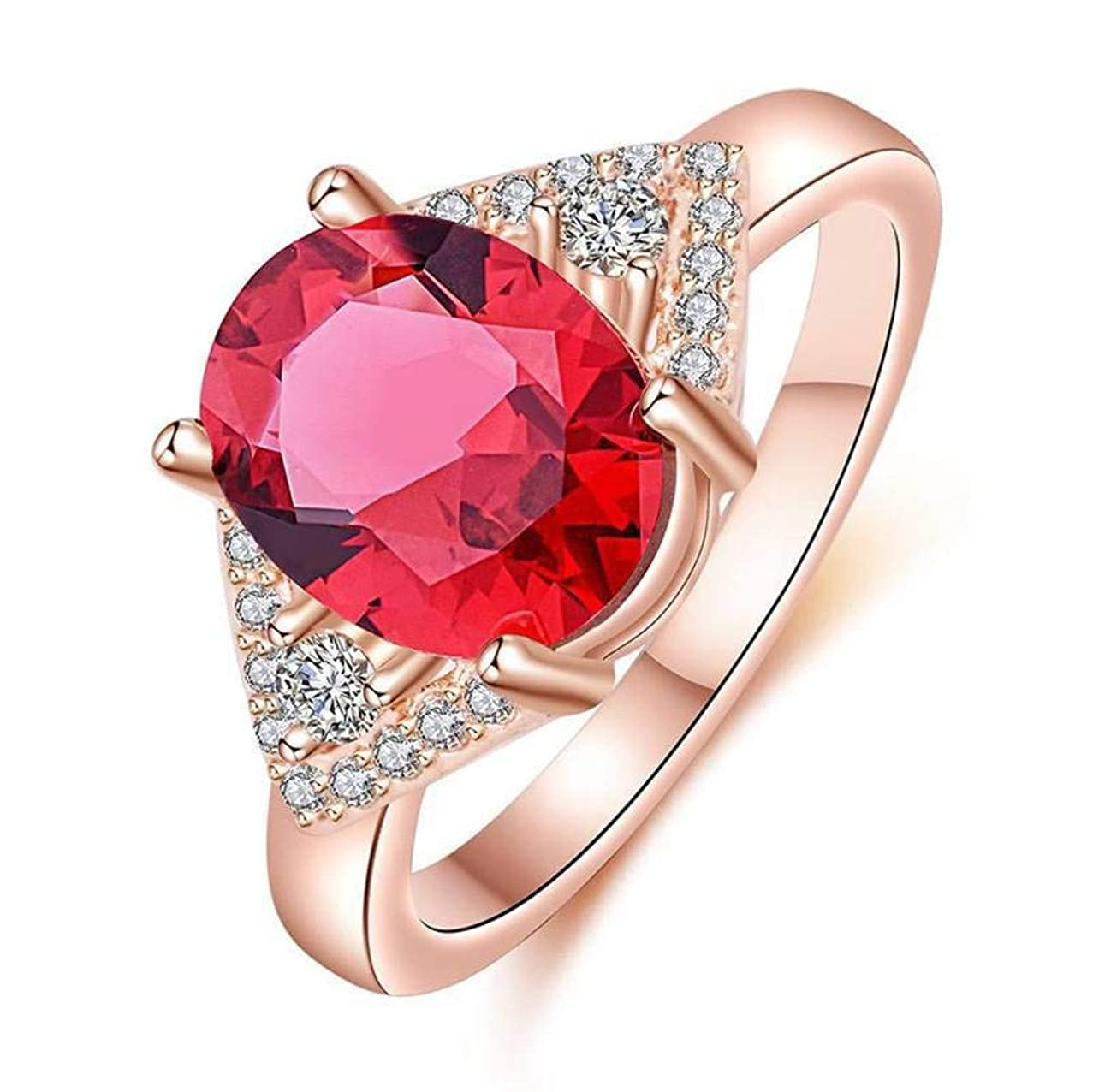 Chuan Han Inlaid Rose Red Zircon Crystal Triangle Rhinestone Ring Rose Rose 925 Simple Fashion Ring Jewelry, Female, Popular, Claw Set, Geometric, Attending Cocktail Ring, Diamond, Rose red & Rose