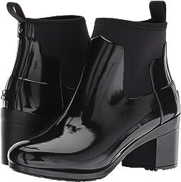 Refined Mid Heel Gloss Rain Boots