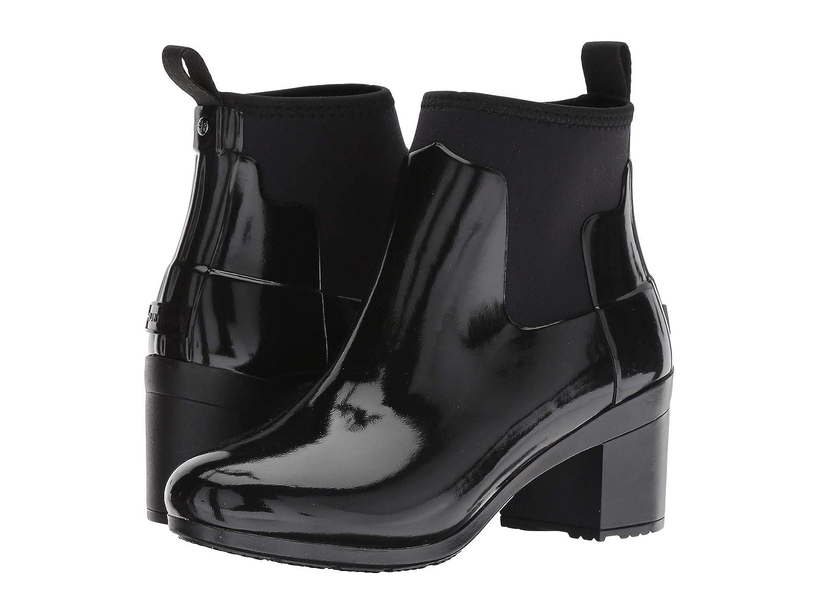 Hunter Refined Heel Mid Heel Refined Gloss Rain Boots 1991aa
