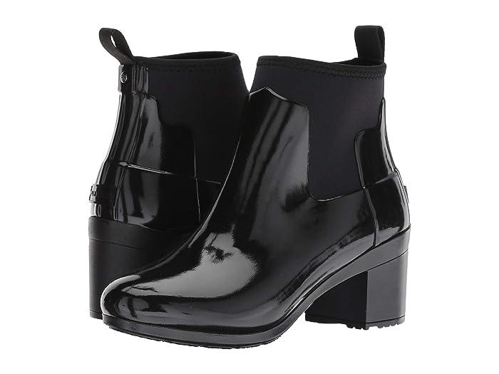 4ab0ce07519 Hunter Refined Mid Heel Gloss Rain Boots   Zappos.com