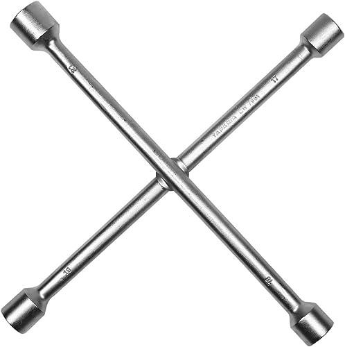 Taparia CW7981 Steel (17 x 19 mm, 18 x 21 mm) Cross Rim Wrench (Silver)