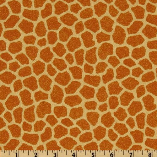 Quilt Fabric Traditions Jungle Babies Giraffe Tan Quilt Fabric By The Yard, Tan
