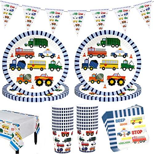 Amycute 42 pcs Set de vajilla de Fiesta de cumpleaños Infantil, Juego de Cubiertos niños para 10 niños con Vaso, Plato, servilleta Fiesta de cumpleaños Baby Showers