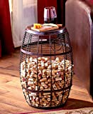 The Lakeside Collection Cork Holder Accent Tables Barrel