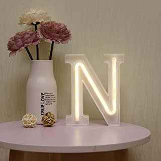 GUOCHENG LED Neon Letters Light Marquee Alphabet Neon Sign Decorative Light up Words Light for Home Wedding Christmas Birthday Party Shopwindow Bar N