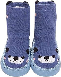 MAYOGO, Calcetines Opaco para Bebés Invierno Bebé Calcetines Algodón Calcetines de piso Antideslizante Para Bebé Niños Niñas 0-2 Años
