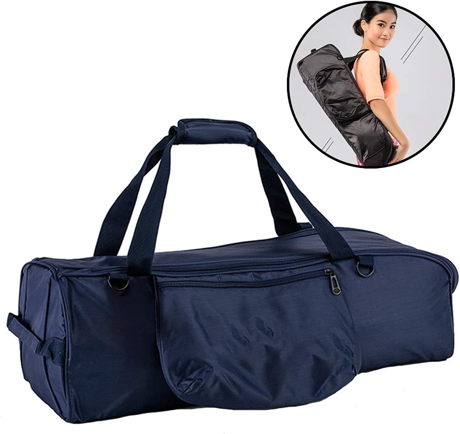 Yoga Mat Bag, Waterproof Sport Gym Carry Bag, Smooth Zippers, Large Functional Storage Pockets bluee