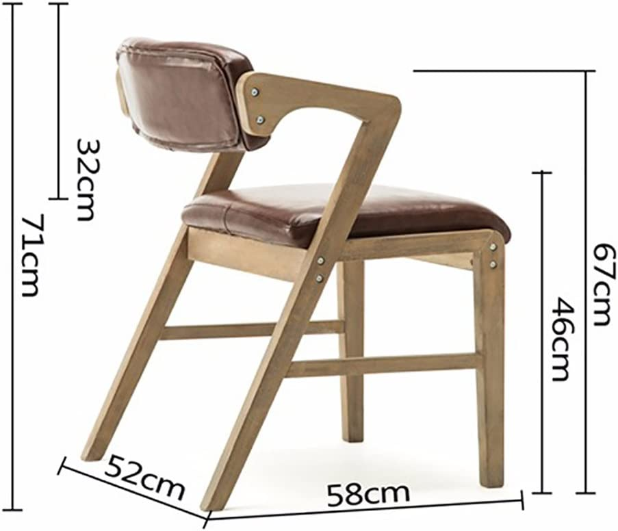 XINHXHE Chaise - Chaise Nordique Vintage en Bois Massif, Salon, Chambre à Coucher, Salle à Manger, Chaise Longue à accoudoirs (Taille 58X52X71 cm) Chaise (Color : Flannel) Flannel