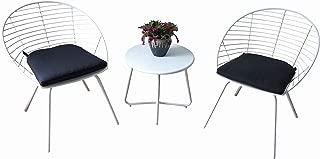 Kozyard Emily 3 Pieces Patio/Balcony Bistro Set with Stylish Iron Bar Minimalist Design Morden Simple Style
