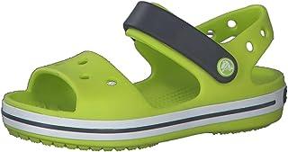 Crocs Crocband Kids, Sandali con Cinturino alla Caviglia, Lime Punch, 27 EU