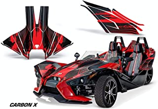 AMR Racing Roadster Graphics Trim kit Sticker Decal Compatible with Polaris Slingshot 2015-2019 - CarbonX Red & Black