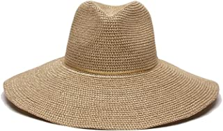 'ale by alessandra Women's Sancho Adjustable Toyo Hat with Leather Trim