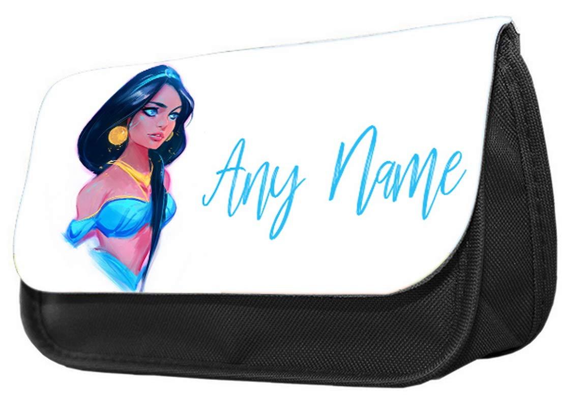 Estuche personalizado con diseño de princesa Disney divertido. Estuche de maquillaje, regalo de vuelta a la escuela.: Amazon.es: Oficina y papelería