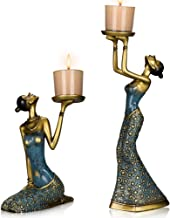 MRealGal Antique Beauty Decorative Candle Holders, Set of 2-Functional Coffee Table Decorations-Centerpieces for Dining/Li...