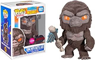 Pop Movies Godzilla vs Kong 3.75 Inch Action Figure Exclusive - Kong with Battle Axe Flocked #1021