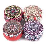 Futchoy Juego de 4 velas aromáticas para regalo, juego de 4 unidades, para yoga, regalos, velas, regalo para mujeres, día de la madre, velas aromáticas