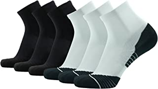 HUSO Men's Tennis Socks,  Performance Sports Ankle Compression Socks 6 Pairs