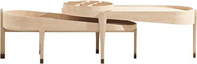Furniture Coffee Table Home Solid Wood Coffee Table Sofa Table Accent Table Sets Simple and Multifunctional Tray Table End Table for Living Room Bedroom Multi-Functional Side Tables