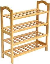 Household Shoe Rack Solid Wood Storage Cabinet 4 Tier Organiser Shelves Simple Hallway Modern Versatile