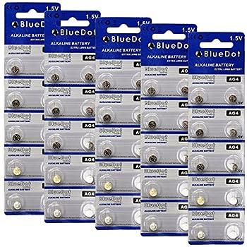 BlueDot Trading AG4 Batteries 50 Count