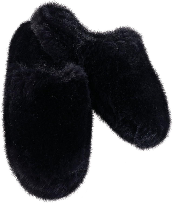 PajamaGram Women's Fuzzy Wuzzies Slippers