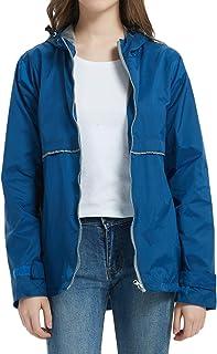 Women Rain Jacket Lightweight Waterproof Raincoat Hooded Windbreaker