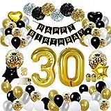 Feliz cumplea/ños /& Mesa N/úmero Confeti para Aniversario Aniversario Decoraci/ón 18 Aniversario Decoraci/ón SIMUER Cumplea/ños Negro Colgar Remolino decoraci/ón de Techo
