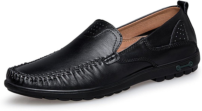 CHENDX Schuhe, Herrenmode Herrenmode Soft  Super Light Mokassins Wave Sohle Slip On Driving Loafer (Farbe   Schwarz, Größe   41 EU)  Wir liefern das Beste