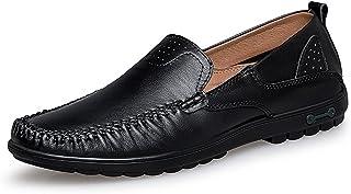 Sygjal Men's Fashion Moccasins Wave Sole Soft & Super Light Slip On Driving Loafer Dress Shoes (Color : White, Size : 46 EU)