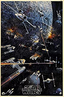 "Star Wars (Style C, 1977) Movie Poster 24"" x 36"" - Guaranteed Certified PosterOffice Prints with Holographic Numbering for Authenticity."
