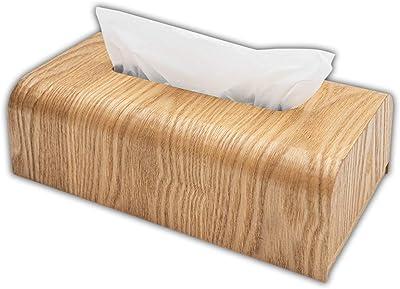 K-LUCE© ティッシュケース ティッシュボックス 木目調 生活必需品 高級感 ホテル 上品 シンプル オシャレ (ナチュラル木目調)