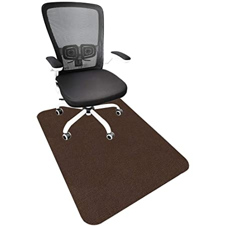 """Office Chair Mat for Hardwood Floor, Office Mats for Rolling Chairs, Non-Slip, Cozy, Multipurpose, Packaged in Rolls (not Folded), 35""""x47"""", (1, Brown)"""