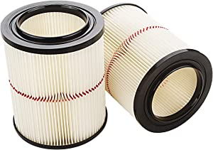 A-KARCK Replacement Filter for Craftsman Shop Vac 9-17816 2Pack, Red Stripe Cartridge Filter for Replaces Part 17816