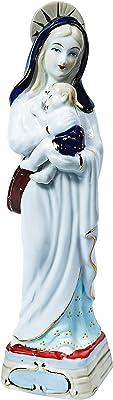 Virgin Mary Child Ceramic Handicrafts Ornaments Handmade Sculptures Pedestal Church Services